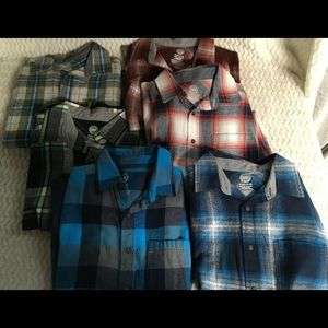 Lot of 6 Boys Blue Long Sleeve Shirt Wonder Nation
